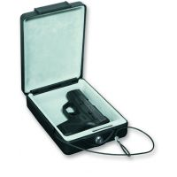 Bulldog Cases 8.7x6x2.5 Car Safe - Steel Pistol Strong Box w/ Key Lock