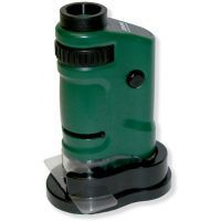 Carson MicroBrite 20x-40x Zoom Pocket Microscope LED Lighted MM-24