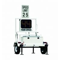 Decatur On-Site 350 Radar Speed Display Trailer with Solar Panels and Speed Limit Sign, MPH or KPH