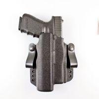 DeSantis Light Bearing Raptor OWB/IWB Holster, Glock 19/Glock 19X/ Glock45,  19 Gen 5, 23, 32, Streamlight M3,TLR1,Inforce,Surefire,X300,Kydex, Right,