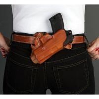 DeSantis Left Hand - Tan - Small of Back Holster 067TB80Z0 - SIG P220, P226, P225, P228, P239, MAUSER M2