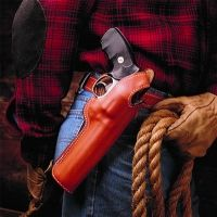 DeSantis Left Hand Tan Lined Dual Angle Hunter Holster 016TD34Z0 - S&W L 520, 581, 586, 620, 681, 686 4in.