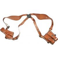 DeSantis Right Hand Tan New York Undercover Shoulder Holster w/ Double Mag Pouch 11DTAB2J0 - GLOCK 17, 19, 22, 23, 26, 27, 31, 32, 33, 36