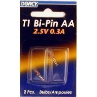 Dorcy T-1 Bi Pin AA Bulb - 2 Per Card 41-1672