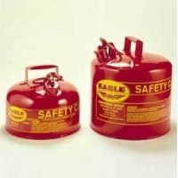Eagle Manufacturing Type I Safety Cans, Galvanized Steel, Eagle Manufacturing UI-20FS 7.6 L (2 gal.) With Funnel