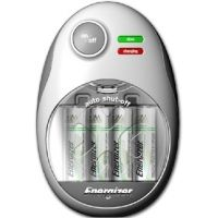 Energizer Easy Charger for AA / AAA NiMh Rechargeable Batteries w/ 4 AA Batteries CHFMWB-4