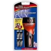 Energizer Weather Ready 75 Hour 2 LED Flashlight w/ 4 AA Energizer Batteries