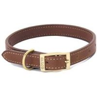 Galco Straight Collar 3/4in. - Chestnut - 11in. - Latigo LT1311CN
