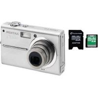 2-PC Pentax Plus Photography Gift Package - Pentax Optio T10 6.0 MP Digital Camera 18941, Silicon 2GB Power 150X Secure Digital SD Memory Card SP002GBSDC150V10