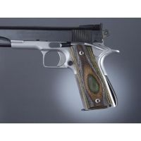 Hogue Govt. Handgun Grip Model Lamo Camo With Palm Swells, Checkered 45491