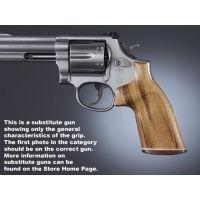 Hogue Trooper Mk III Handgun Grip Goncalo No Finger Groove Stripe Cap Checkered 42231
