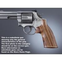 Hogue Ruger SP101 Handgun Grip Kingwood No Finger Groove Stripe Cap 81630