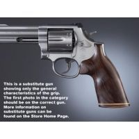 Hogue Ruger Security Six Handgun Grip Pau Ferro No Finger Groove Stripe Cap 87330