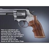 Hogue Ruger Security Six Handgun Grip Pau Ferro Top Finger Groove Stripe Cap Checkered 87341