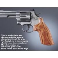 Hogue S&W N Rd. Handgun Grip Conver. Tulipwood No Finger Groove Checkered 25713