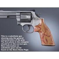 Hogue Ruger Blackhawk/Vaquero Handgun Grip Tulipwood No Finger Groove Stripe Cap 83730