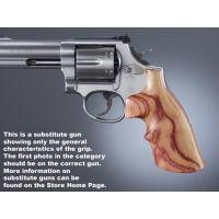 Hogue Trooper Mk III Handgun Grip Tulipwood Top Finger Groove 42750