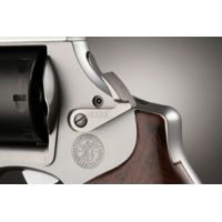 Hogue S&W Extended Short Cylinder Release - Stainless Steel Blued