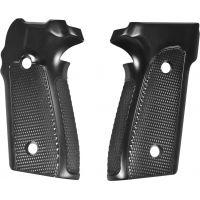 Hogue SIG Sauer P228 - P229 Handgun Grip Checkered Aluminum - Brushed Gloss Black Anodized 28176