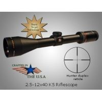 Kruger Optical K-5 Rifle Scope 2.5-12x40 with Hunter Duplex Reticle