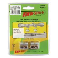 Kwik-Site .22 Adapter For Grooved Receiver Silver KS-W22S