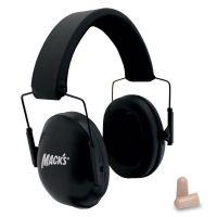 Macks Double Up Black Shooting Earmuffs w/ Ear Plugs