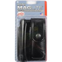 MagLite AM2A346 Heavy Duty Black Holster for Mini MagLite AA Flashlight And Folding Knife
