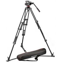 Manfrotto Professional Fluid Video System w/ Aluminum Ground Spreader