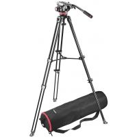 Manfrotto Video System Kit w/ Aluminum Twin Telescopic Tripod