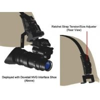 Morovision Helmet Mount L2 Ratchet Strap Bracket with Integrated Base and Universal NVG Mount MVA-28300G06