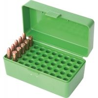 MTM Case-Gard 50 Flip Top Rifle Ammo Box For WSSM and .500 S&W Green RSLD-50-10