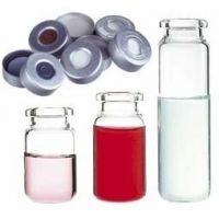 National Scientific Headspace Crimp-Top Vials, National Scientific C4020-32A Aluminum Seals Tan PTFE/White Silicone