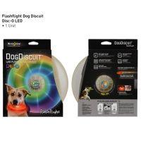 Nite Ize FlashFlight Dog Discuit - LED Illuminated Flying Disc for Your Dog