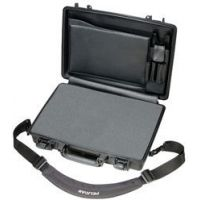 Pelican 1495 CC#2 Notebook - Laptop Computer Waterproof Carry Case w/ Lid Organizer, Foam and Removable Shoulder Strap