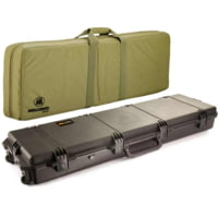 Pelican Storm Cases Custom Rifle Cases (No Foam) with FieldPak Soft-Sided Bags - Black