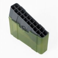 Plano Molding 20 Count Rifle Ammo Case w/ Slip Cover Design, OD Green & Trans Green