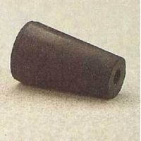 Plasticoid Black Rubber Stoppers, One-Hole 7--M291