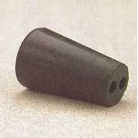 Plasticoid Black Rubber Stoppers, Two-Hole 8.5M292