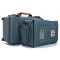 PortaBrace PB-2550IC Superlite Wheeled Hard Case with Soft Interior Case 14x8x6 int. (Blue)