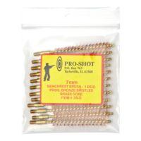 Pro-Shot Brass Core-Bronze Bristle Rifle Length Bore Brush 7mm Caliber 7R