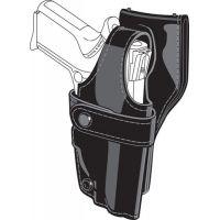 Safariland 0705 Duty Holster, SSIII Low-Ride, Level III Retention - Hi Gloss Black, Right Hand 0705-540-91