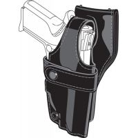 Safariland 0705 Duty Holster, SSIII Low-Ride, Level III Retention - Hi Gloss Black, Left Hand 0705-373-92