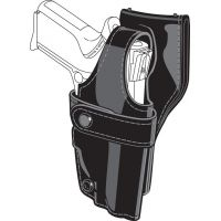 Safariland 0705 Duty Holster, SSIII Low-Ride, Level III Retention - Hi Gloss Black, Right Hand 0705-783-91