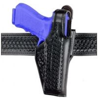 "Safariland 200 ""Top Gun"" Mid-Ride, Level I Retention Holster - Plain Black, Right Hand 200-273-161"