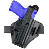 Safariland 328 Belt Holster, Pancake Style - Plain Black, Left Hand 328-53-62