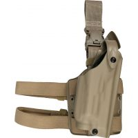 Safariland 6005 SLS Tactical Holster w/ Quick Release Leg Harness - STX FDE Brown, Right Hand 6005-68321-551
