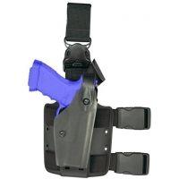Safariland 6005 SLS Tactical Holster w/ Quick Release Leg Harness - Tactical Black, Left Hand 6005-9