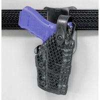Safariland 6075 Raptor Level IV, Low-Ride UBL Holster - Cordovan Basketweave, Right Hand 6075-383-071