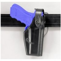 Safariland 6280 Level II Retention, Mid-Ride Holster - Plain Black, Right Hand 6280-69-61