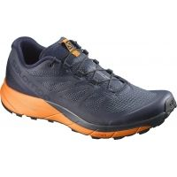 Salomon Sense Ride Trailrunning Shoe Mens , L39474300 11 Color: Navy BlazerBright MarigoldOmbre Blue, 38% Off , — Free 2 Day Shipping w code